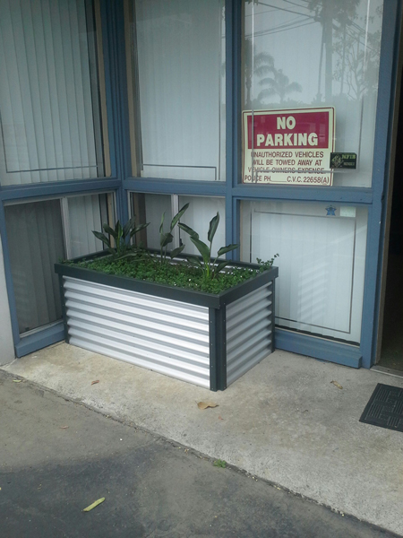 Corrugated Steel Planter
