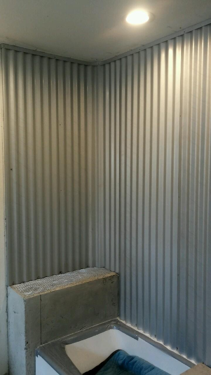 Corrugated Zincalume Shower