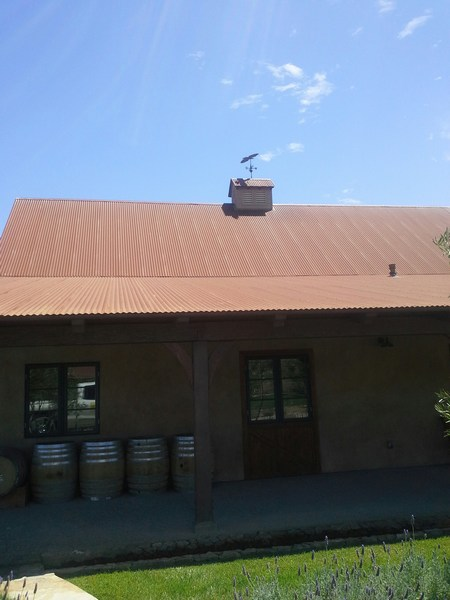 Weathering Steel Roof in Santa Ynez