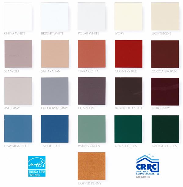 Color Chart (26 Gauge)