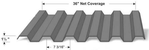1 1/2″ Deep 7.2 Panel Western Rib / HR-36