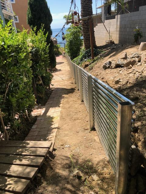 7/8 corrugated retaining wall 18 ga with 3/16 wall posts
